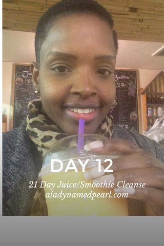 DAY 12 21 Day Juice/Smoothie Cleanse aladynamedpearl.com