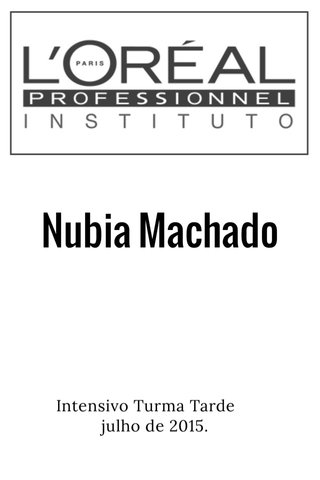 Nubia Machado Intensivo Turma Tarde julho de 2015.