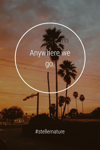 Anywhere we go. #stellernature