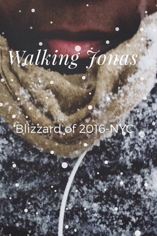 Walking Jonas Blizzard of 2016-NYC