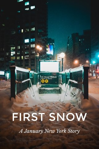 FIRST SNOW A January New York Story