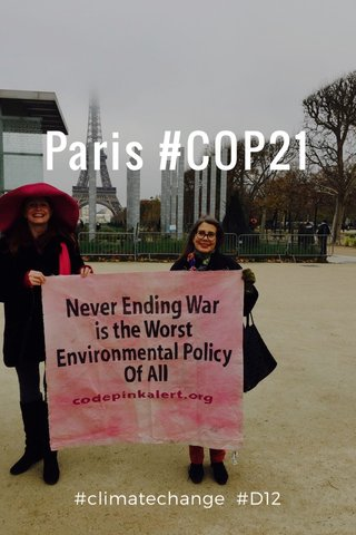 Paris #COP21 #climatechange #D12