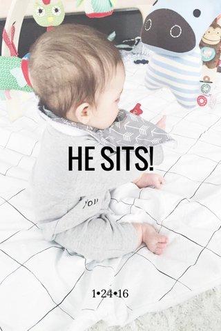 HE SITS! 1•24•16
