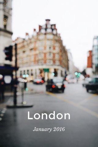 London January 2016