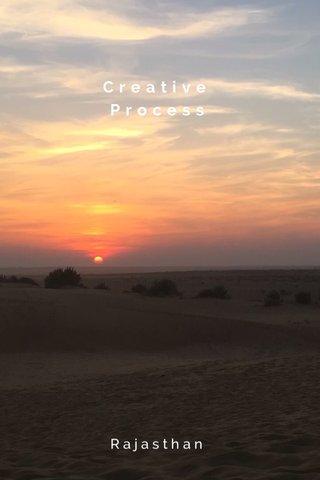 Creative Process Rajasthan