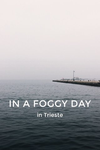 IN A FOGGY DAY in Trieste