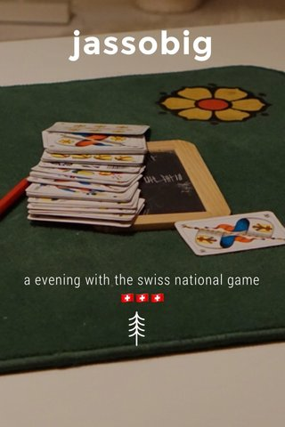 jassobig a evening with the swiss national game 🇨🇭🇨🇭🇨🇭