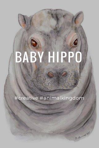 BABY HIPPO #creative #animalkingdom