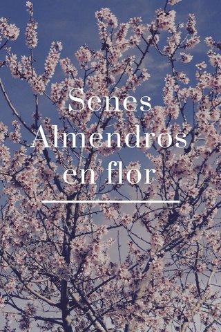 Senes Almendros en flor