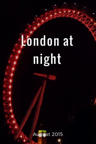 London at night August 2015