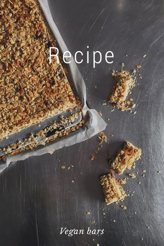 Recipe Vegan bars