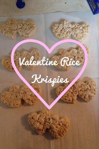 Valentine Rice Krispies