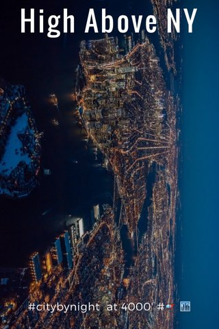 High Above NY #citybynight at 4000' #🚁 🏙