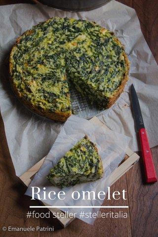 Rice omelet #food steller #stelleritalia