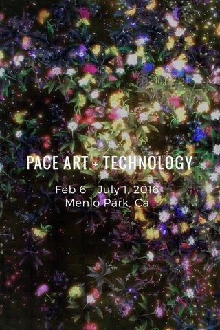 PACE ART + TECHNOLOGY Feb 6 - July 1, 2016 Menlo Park, Ca