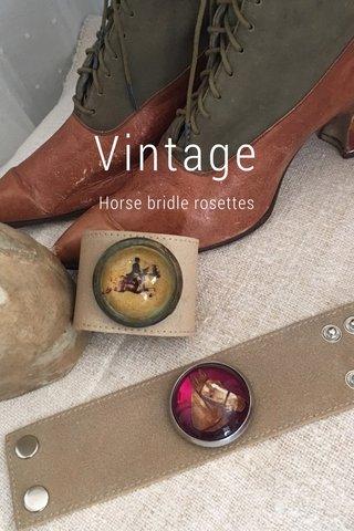 Vintage Horse bridle rosettes