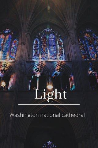 Light Washington national cathedral