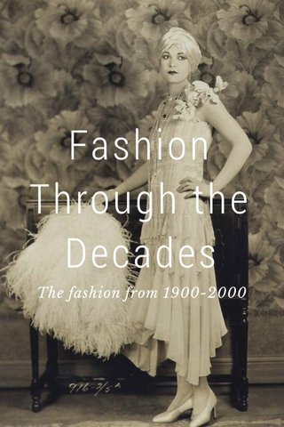 Fashion Through the Decades The fashion from 1900-2000