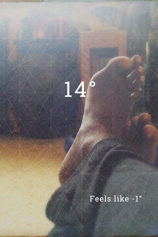 14° Feels like -1°