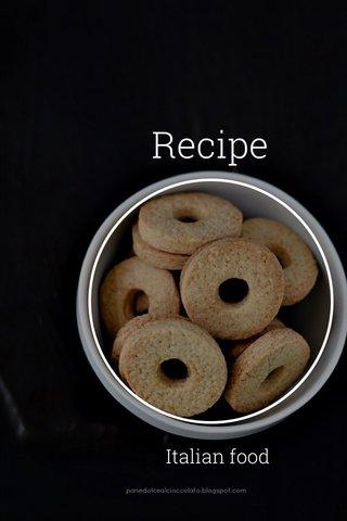 Recipe Italian food