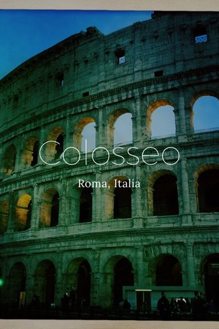 Colosseo Roma, Italia