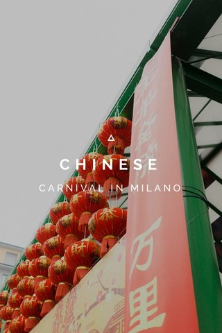CHINESE CARNIVAL IN MILANO