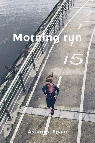 Morning run Asturias, Spain