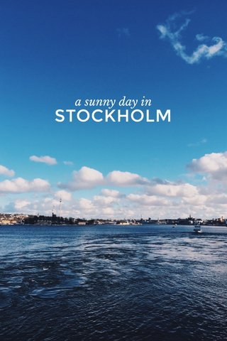 STOCKHOLM a sunny day in