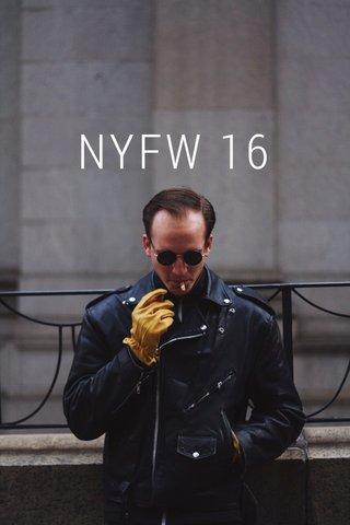 NYFW 16