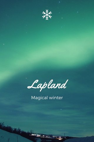 Lapland Magical winter