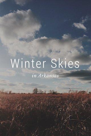 Winter Skies in Arkansas
