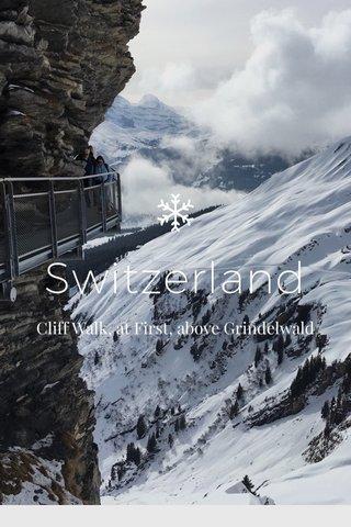 Switzerland Cliff Walk, at First, above Grindelwald