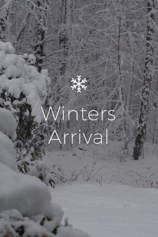 Winters Arrival