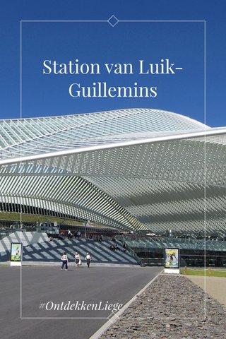 Station van Luik-Guillemins #OntdekkenLiege