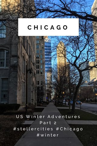 CHICAGO US Winter Adventures Part 2 #stellercities #Chicago #winter
