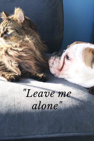 """Leave me alone"""