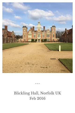 Blickling Hall, Norfolk UK Feb 2016