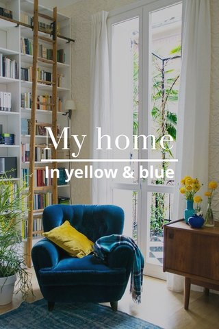 My home In yellow & blue
