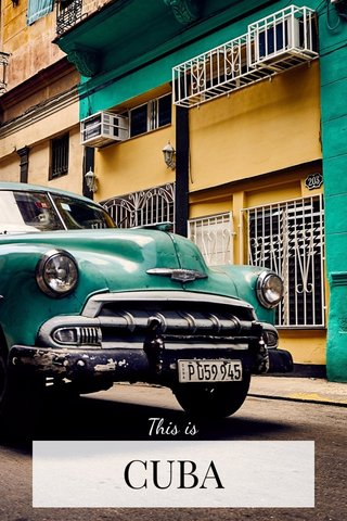 CUBA This is