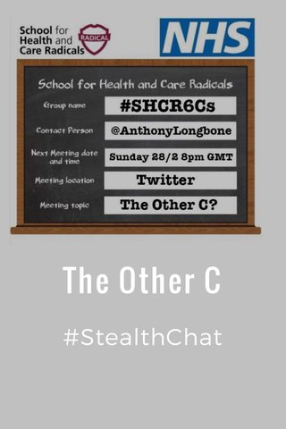The Other C #StealthChat
