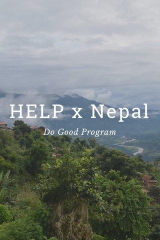 HELP x Nepal Do Good Program