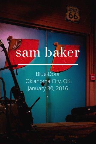 sam baker Blue Door Oklahoma City, OK January 30, 2016