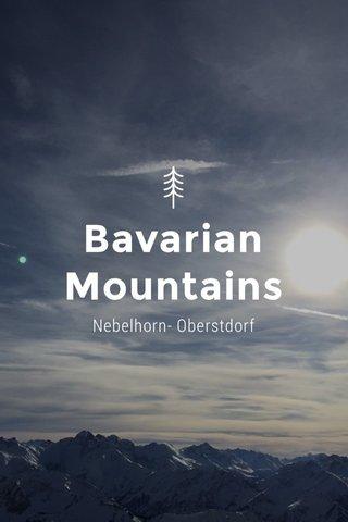 Bavarian Mountains Nebelhorn- Oberstdorf