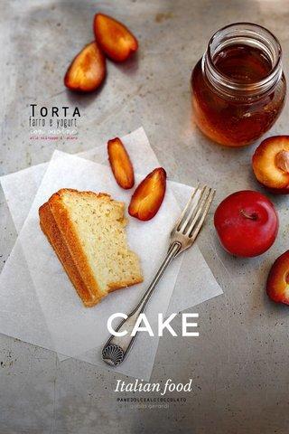CAKE Italian food