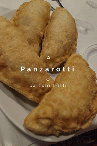 Panzarotti O calzoni fritti