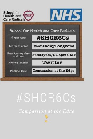 #SHCR6Cs Compassion at the Edge 👇 👇 #SoMe faux pas No1 👇 Spot the mistake