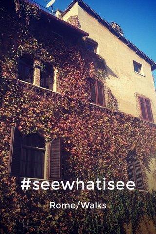 #seewhatisee Rome/Walks