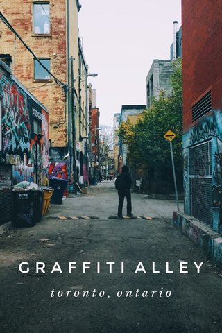 GRAFFITI ALLEY toronto, ontario