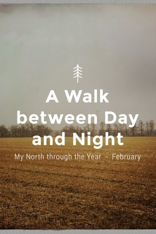 A Walk between Day and Night My North through the Year - February