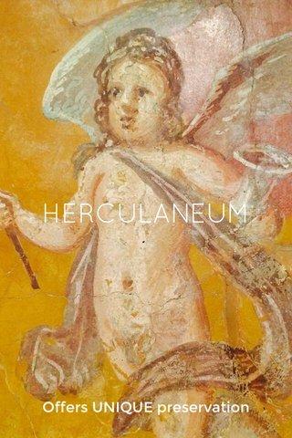 HERCULANEUM Offers UNIQUE preservation